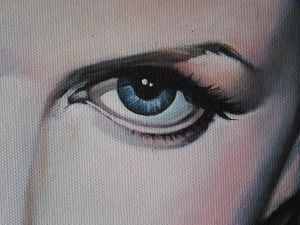 Gemälde Nicole Kidman, Detail