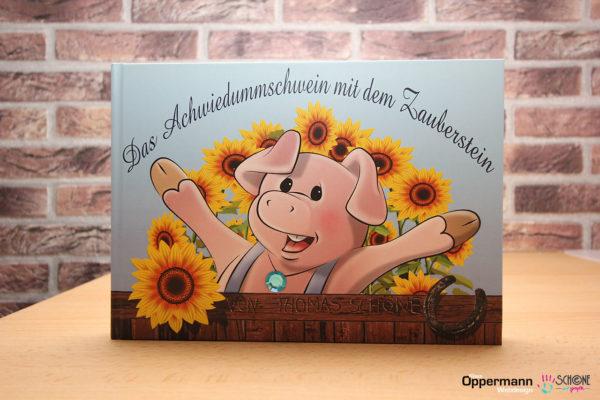 """Bilderbuch """"Das Achwiedummschwein mit dem Zauberstein"""""""