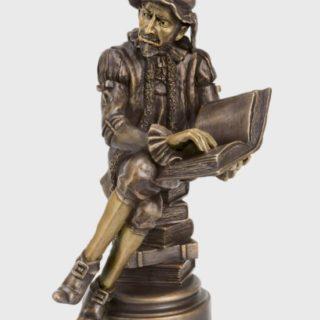 """Bronzeskulptur """"Der Advokat"""""""