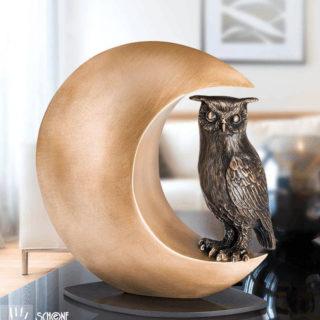 Bronze-Skulptur-Nachteule