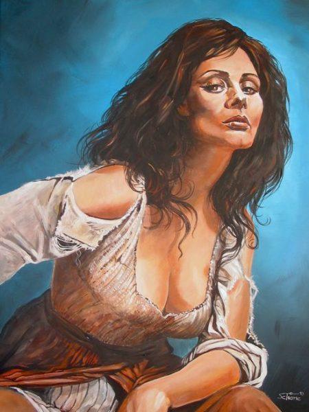 "Gemälde ""Dulcinea"", Acryl auf Leinwand"