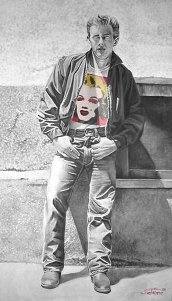 Gemälde James und Marilyn
