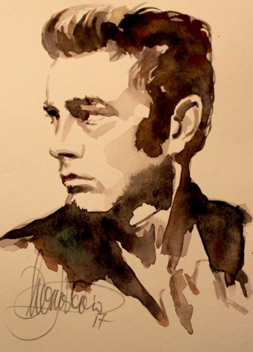 Portrait von James Dean
