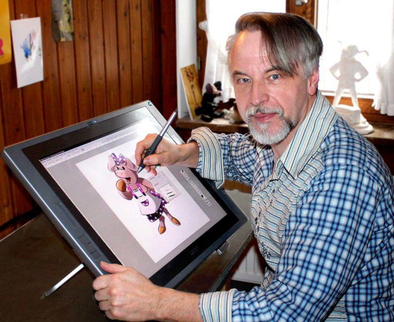 Künstler Thomas Schöne arbeitet an seinem Kinderbuch