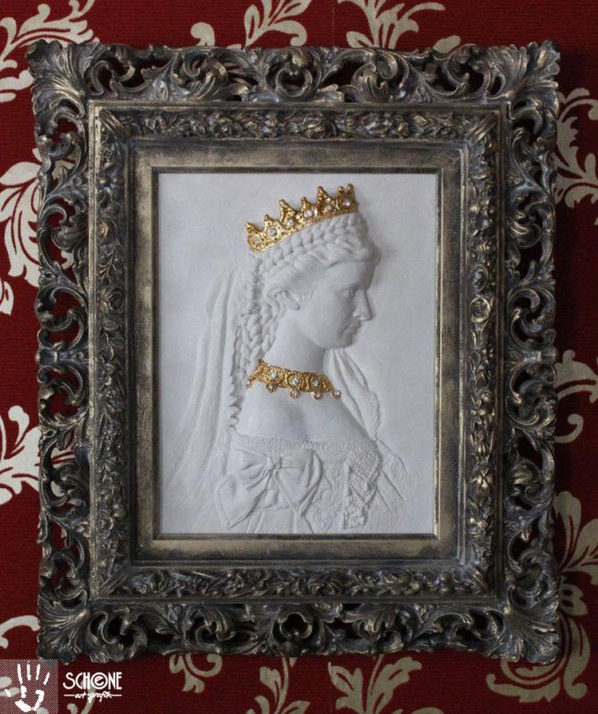 Relief Kaiserin Sisi, Kunstwerk, Skulptur