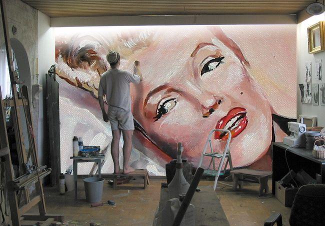 Thomas Schöne malt Marilyn