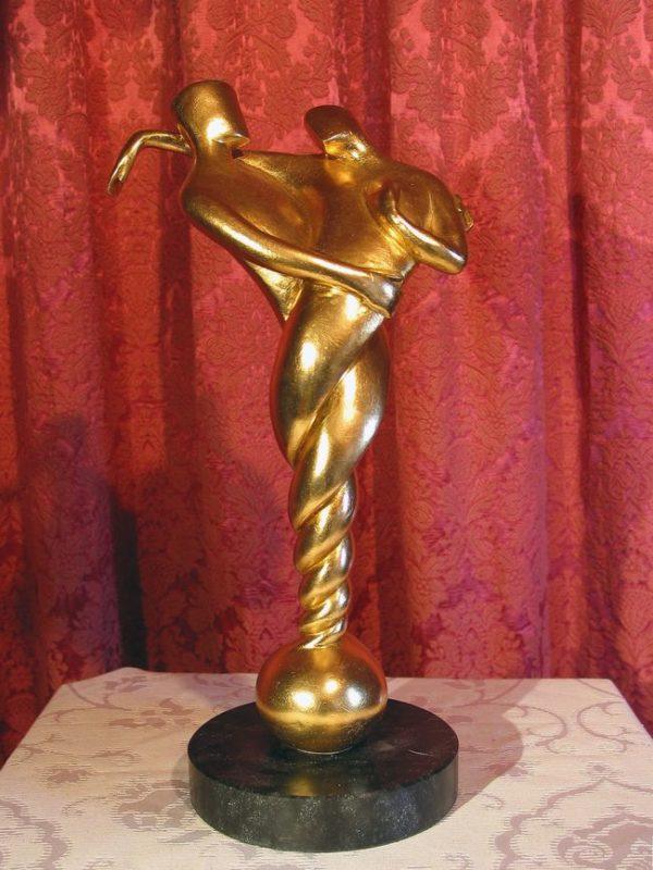 Auf ewig Dein, vergoldete Skulptur