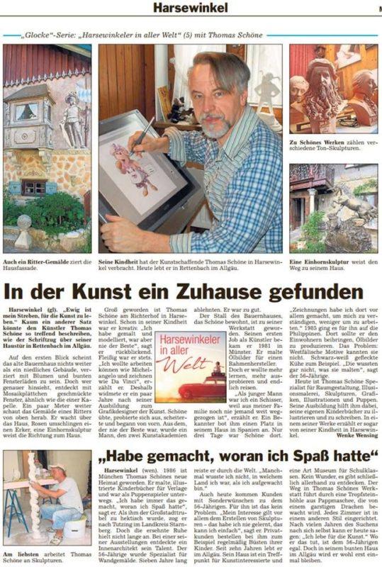 """Bericht in der Zeitung """"Die Glocke"""""""