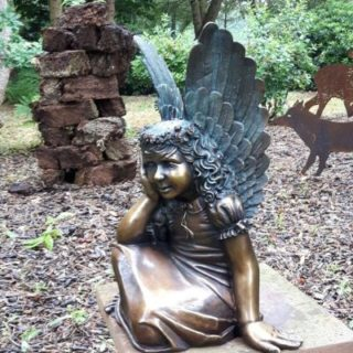 Bronzeskulptur Engel für Grabanlage