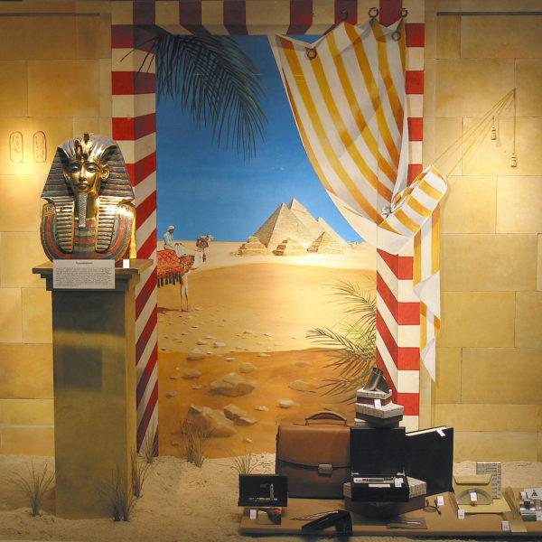 """Illusionsmalerei """"Ägypten"""" im Sonnenstudio - Ägyptische Wandmalerei"""