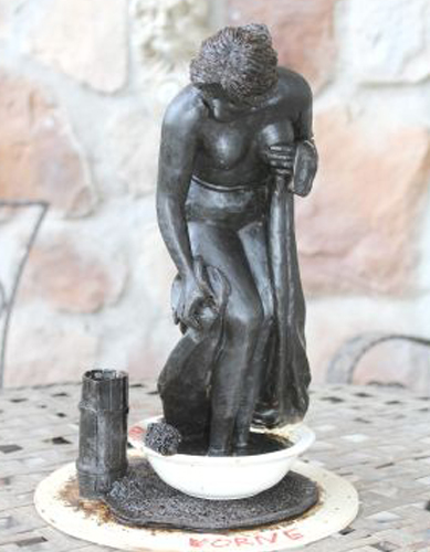 badende in Wanne
