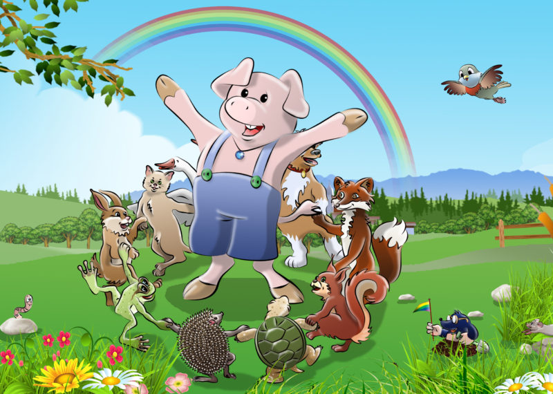 Das Schwein und der Regenbogen
