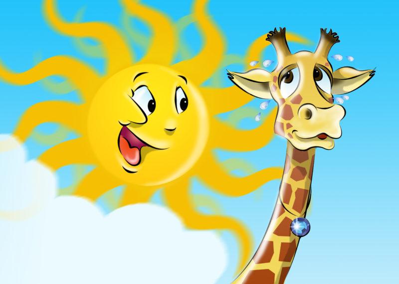 Die Giraffe und die Sonne