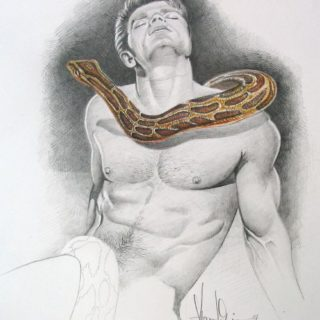 Adam mit Schlange