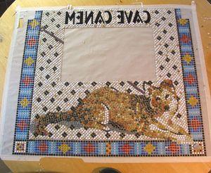 Das fertige Mosaik auf Papier geklebt