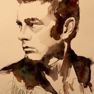 James Dean Aquarell
