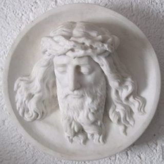 Jesus Portrait aus Marmor