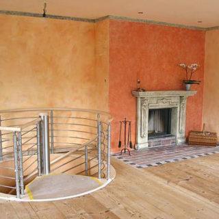 Raumgestaltung: Wohnzimmergestaltung mit einem Kamin