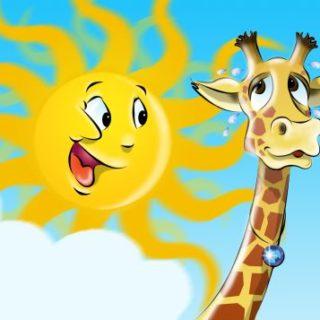 Giraffe und Sonne
