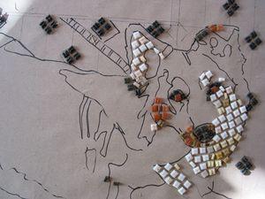 Konturen bei einem Mosaik