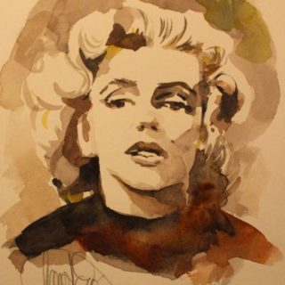 Marilyn Monroe Aquarell