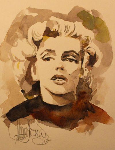 Marilyn Monroe Aquarell