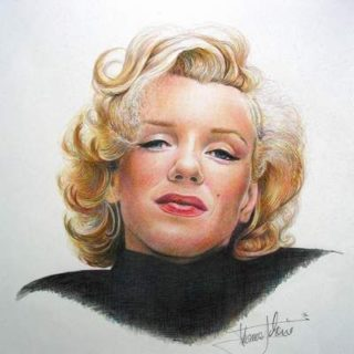 Marilyn Monroe Buntstift