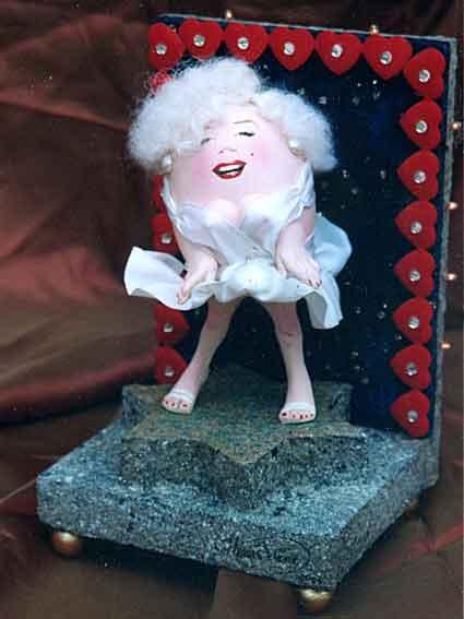 Marilyn Monroe als ei