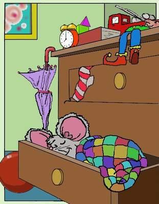 Maus schläft