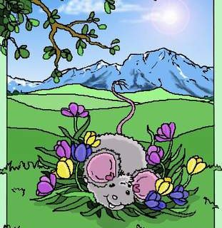 Maus im Frühling