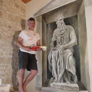 Raumgestaltung: Michelangelos Moses Wandmalerei