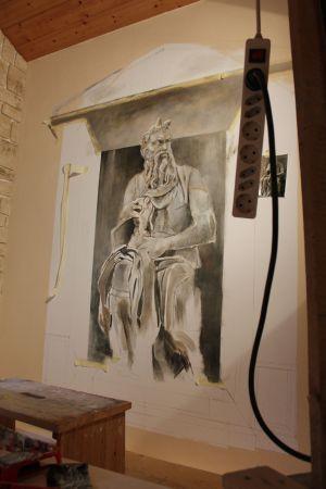 Michelangelos Moses Wandmalerei