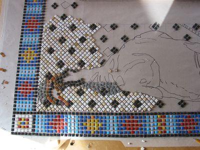 Mosaik im entstehen