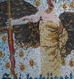 Mosaik mit einem Engel