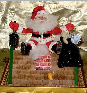 Eier: Nikolaus auf dem Dach