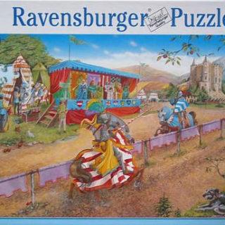 Puzzel über das Ritterturnier