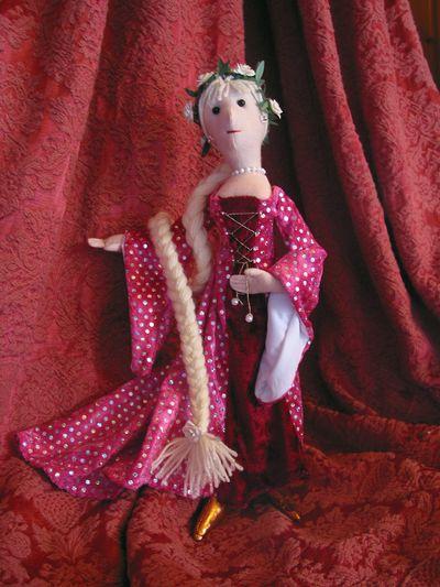 Rapunzel Stoffpuppe