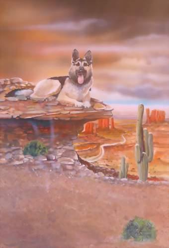 Schaeferhund airbrush