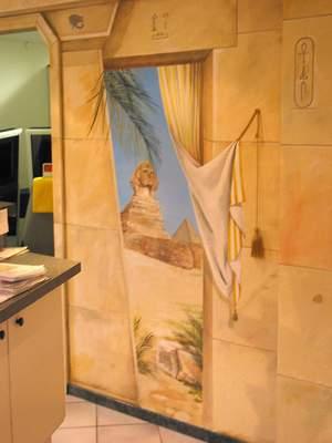 Sonnenstudio Gesamtgestaltung Ägypten Illusionsmalerei Ägyptische Wandmalerei