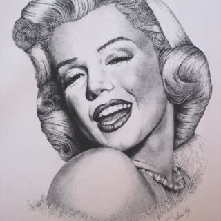 Marilyn Monroe in Tusche