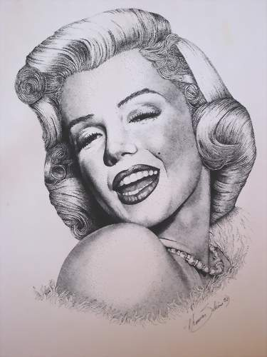 Marilyn Monroe in Tusche