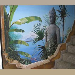 Raumgestaltung: Thailand Thema als Wandbemalung