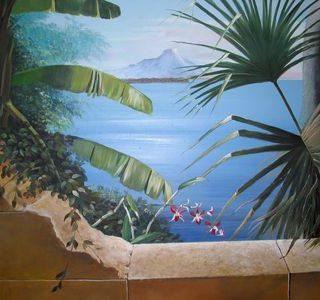 Thailand Thema als Wandbemalung