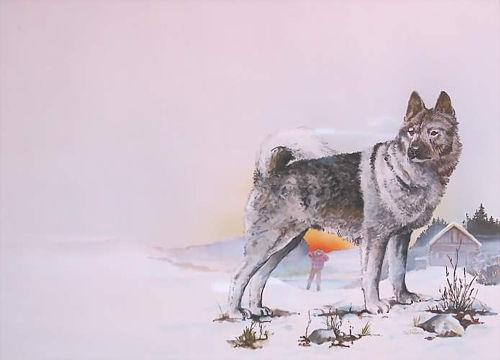 Wolfshund airbrush