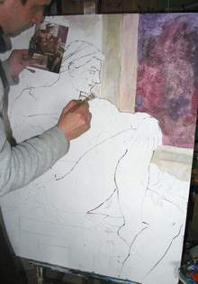 Wie ein imitiertes Fresko entsteht.