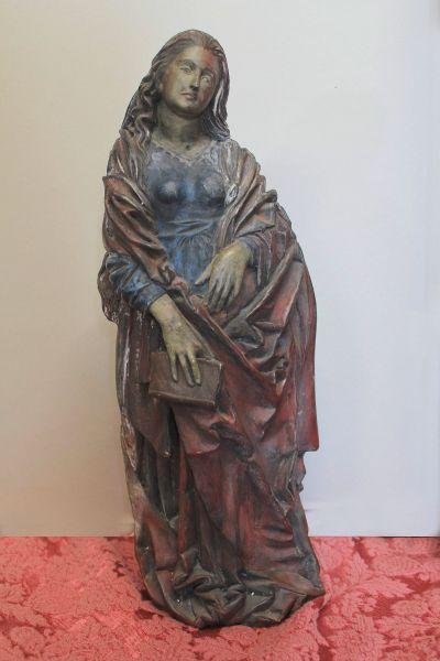 gotische Madonna gefasst