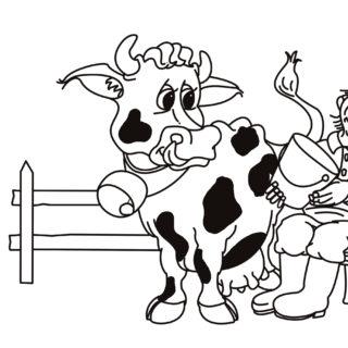 """Tiere-digital: """"Der Bauer und die Kuh"""""""