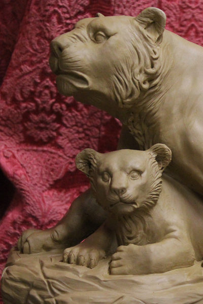 Löwe mit Kind