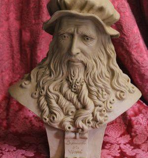 Leonardo da Vinci als Büste