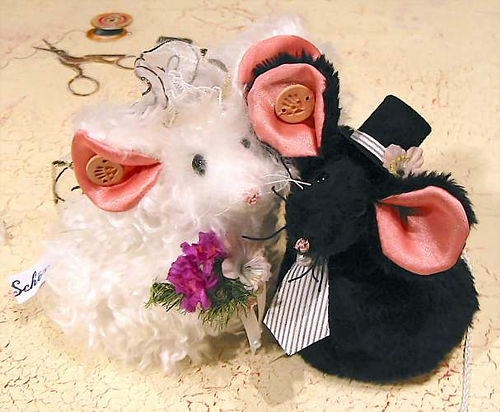 Mäuse in verschiedenen Materialien